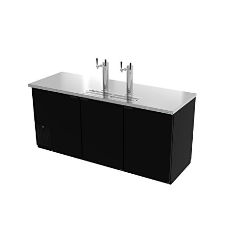 Direct-Draw-Beer-Cooler-80-threesection-3-solid-doors-2-stainless-steel-draft-towers-with-dual-taps-4-keg-capacity-Asber-ADDC-78-0