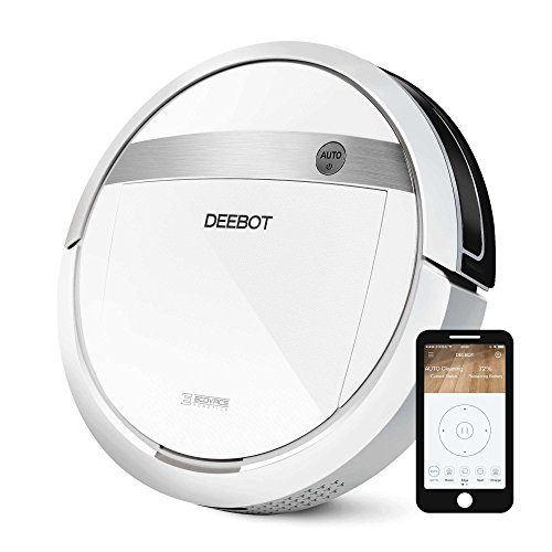 ECOVACS-DEEBOT-M88-Robotic-Vacuum-Cleaner-for-Pet-Hair-Carpet-and-Bare-Floors-with-App-Control-0
