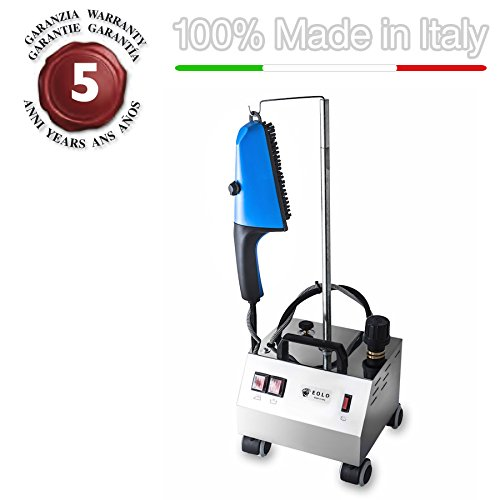 EOLO-Steam-brush-for-vertical-ironing-with-energy-saving-copper-boiler-and-external-anti-scale-resistor-AV02-INOX-230-Volts-On-demand-before-order-110-120-Volts-0