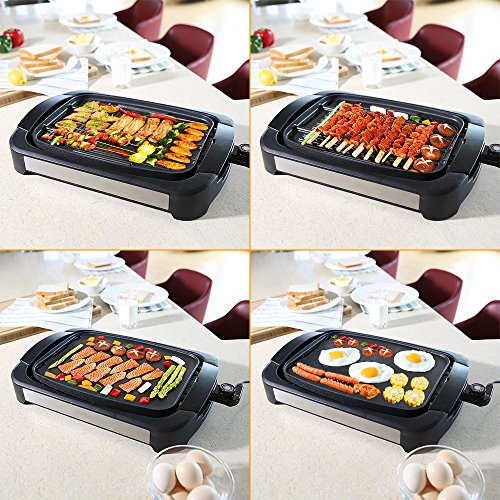Electric-Grill-Griddle-Smartlife-Smokeless-Reversible-Grill-Griddle-Cast-Aluminum-Combo-Water-Based-Double-Layer-Teflon-Coating1700-Watts-Non-Stick-FDA-Certification-For-Home-Restaurant-Party-0-1