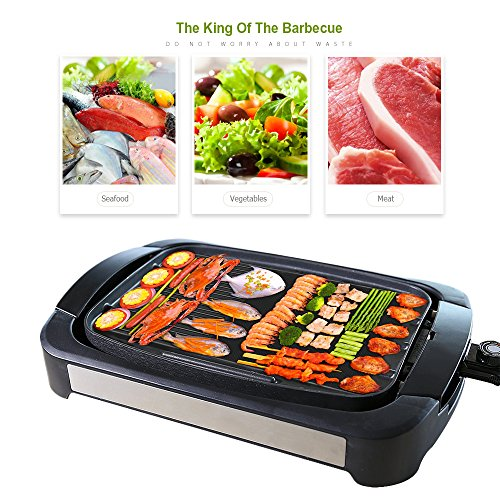 Electric-Grill-Griddle-Smartlife-Smokeless-Reversible-Grill-Griddle-Cast-Aluminum-Combo-Water-Based-Double-Layer-Teflon-Coating1700-Watts-Non-Stick-FDA-Certification-For-Home-Restaurant-Party-0-2