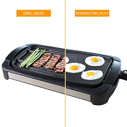 Electric-Grill-Griddle-Smartlife-Smokeless-Reversible-Grill-Griddle-Cast-Aluminum-Combo-Water-Based-Double-Layer-Teflon-Coating1700-Watts-Non-Stick-FDA-Certification-For-Home-Restaurant-Party-0