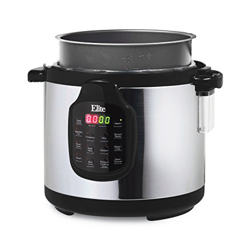 Elite-Platinum-11-in-1-Electric-Pressure-Cooker-Slow-Cooker-Stainless-Steel-Cooking-Pot-6Qt-1000W-0-0