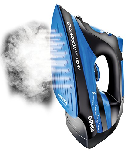 Eureka-ER15001-Champion-1500-Watt-Micro-Steam-Iron-Patent-Nano-Ceramic-Soleplate-with-Auto-Off-Anti-Drip-Blue-0-2