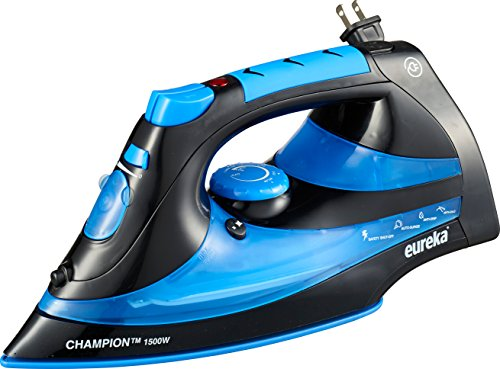 Eureka-ER15001-Champion-1500-Watt-Micro-Steam-Iron-Patent-Nano-Ceramic-Soleplate-with-Auto-Off-Anti-Drip-Blue-0