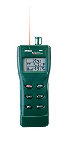 Extech-RH401-Triple-Display-Hygro-Thermometer-Psychrometer-with-Built-In-Infrared-Thermometer-0-0
