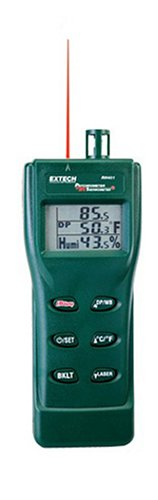 Extech-RH401-Triple-Display-Hygro-Thermometer-Psychrometer-with-Built-In-Infrared-Thermometer-0