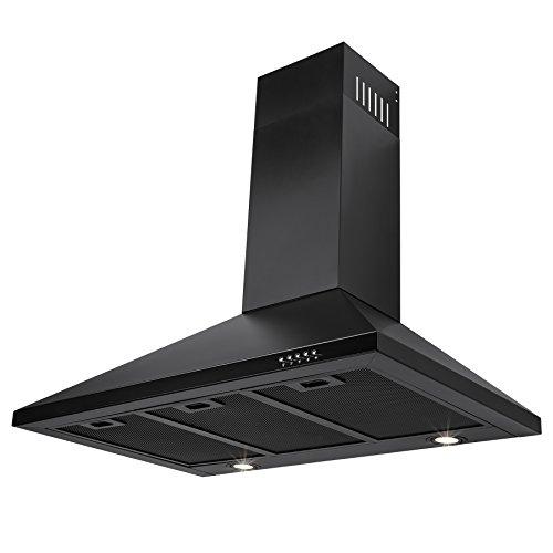 FIREBIRD-30-Wall-Mount-Black-Stainless-Steel-Push-Button-Touch-Control-Kitchen-Vent-Cooking-Fan-Range-Hood-w-Aluminum-Mesh-Filter-0-2