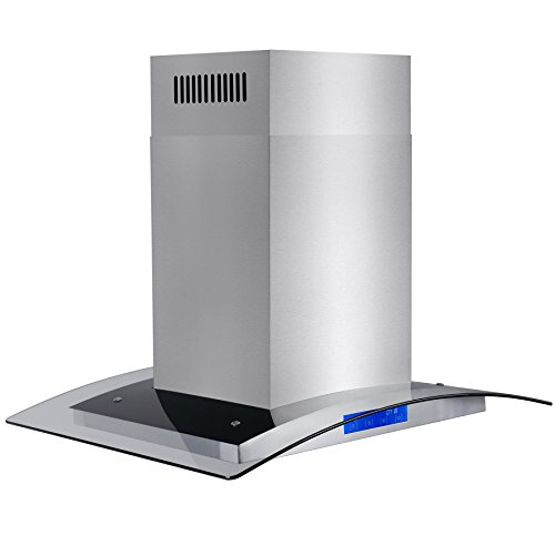 FIREBIRD-Stainless-Steel-36-Euro-Style-Island-Mount-Range-Hood-LED-Screen-0-2