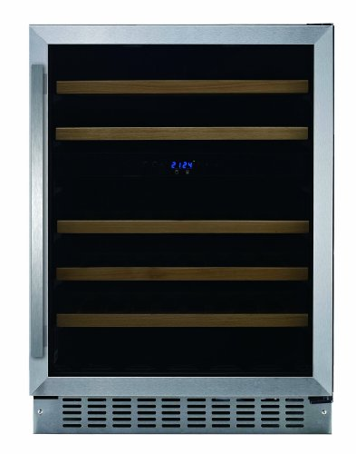 Fagor-WC-46DZ-Built-in-Wine-Cooler-with-LED-Display-5-Slide-Out-Shelves-and-Door-Alarm-24-Inch-0