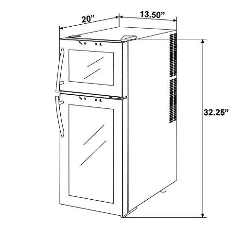 Firebird-21-Bottles-Dual-Zone-Adjustable-Temperature-Freestanding-Electric-Thermoelectric-Wine-Cooler-Cellar-0-1