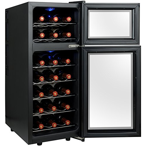 Firebird-21-Bottles-Dual-Zone-Adjustable-Temperature-Freestanding-Electric-Thermoelectric-Wine-Cooler-Cellar-0-2