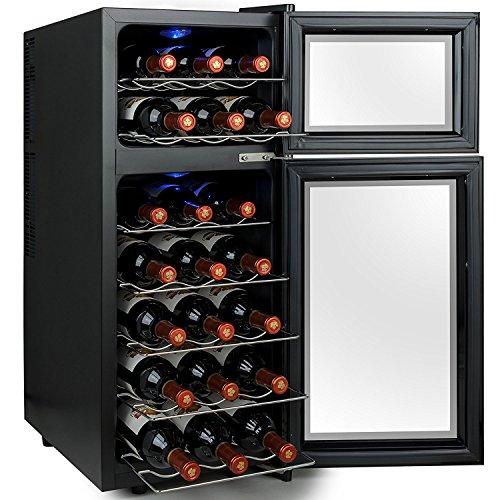 Firebird-21-Bottles-Dual-Zone-Adjustable-Temperature-Freestanding-Electric-Thermoelectric-Wine-Cooler-Cellar-0