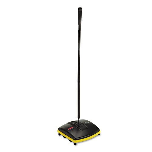 Floor-Carpet-Sweeper-Plastic-Bristles-44-Handle-Black-0