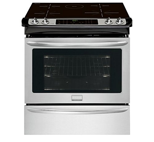 Frigidaire-FGIS3065PF-30-Slide-In-Electric-Range-with-Induction-Technology-True-Convection-Oven-Temperature-Probe-and-Steam-Cleaning-in-Smudge-Proof-Stainless-Steel-with-Black-0