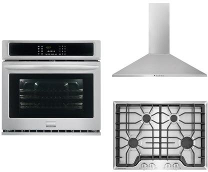 Frigidaire-Frigidaire-Gallery-3-Piece-Kitchen-Package-With-FGGC3045QS-30-Gas-Cooktop-FGEW3065PF-30-Electric-Single-Wall-Oven-and-FHWC3055LS-30-Wall-Mount-Convertible-Hood-in-Stainless-Steel-0
