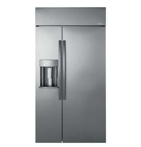 GE-Profile-PSB42YSKSS-Built-in-Side-by-Side-Refrigerator-with-243-cu-ft-Capacity-in-Stainless-Steel-0