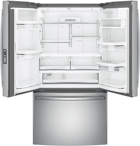 GE-Profile-PWE23KSKSS-36-Energy-Star-Counter-Depth-French-Door-Refrigerator-with-231-cu-ft-Capacity-Stainless-Steel-0-0