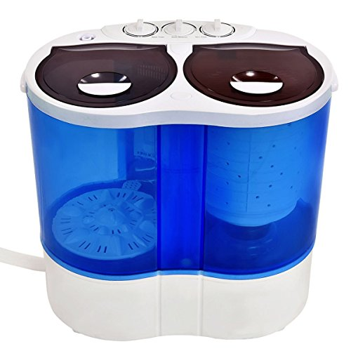 Giantex-Portable-Mini-Washing-Machine-Gravity-Drain-Compact-Twin-Tub-77lb-Washer-Spin-Dryer-Furni-0-0