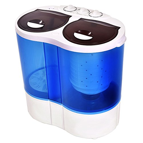 Giantex-Portable-Mini-Washing-Machine-Gravity-Drain-Compact-Twin-Tub-77lb-Washer-Spin-Dryer-Furni-0-1