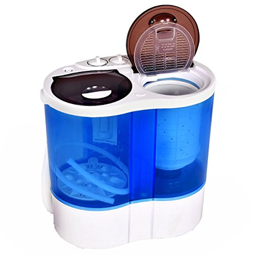 Giantex-Portable-Mini-Washing-Machine-Gravity-Drain-Compact-Twin-Tub-77lb-Washer-Spin-Dryer-Furni-0-2