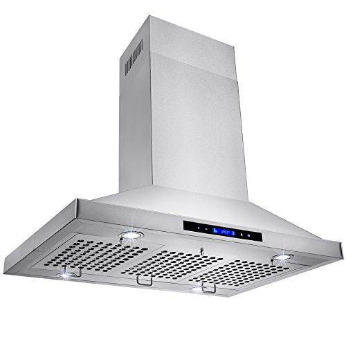 Golden-Vantage-Stainless-Steel-36-Euro-Style-Island-Mount-Range-Hood-LCD-Screen-GV-GL-9002-36-0