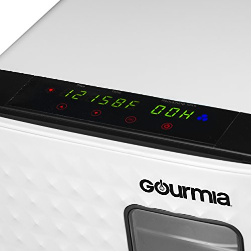 Gourmia-Food-Dehydrator-With-Touch-Digital-Temperature-Control-Ten-Drying-Trays-Plus-Beef-Jerky-Sausage-Hanging-Rack-Sleek-Design-Transparent-Window-Bonus-Cookbook-Black-0-1