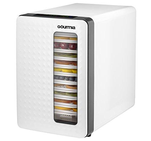 Gourmia-Food-Dehydrator-With-Touch-Digital-Temperature-Control-Ten-Drying-Trays-Plus-Beef-Jerky-Sausage-Hanging-Rack-Sleek-Design-Transparent-Window-Bonus-Cookbook-Black-0-2