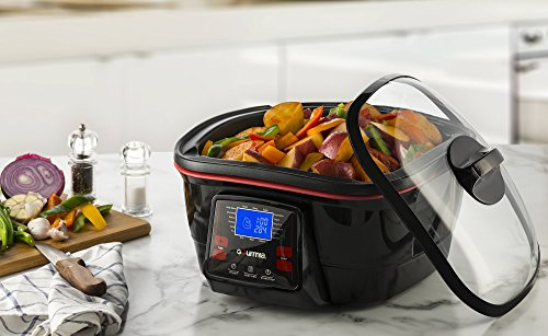 Gourmia-GMC780-18-in-1-Multi-Cooker-With-LCD-Display-Deep-Fry-Steam-Bake-Roast-Saute-More-Free-Recipe-Book-Fondue-Accessories-Included-0-0