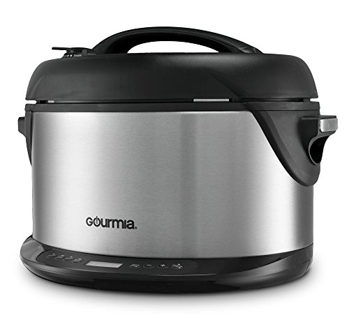 Gourmia-Multifunction-Electric-1-Hour-Hot-Cold-Smoker-Pressure-Cooker-Slow-Cooker-and-Steamer-65-Qt-With-Delay-Timer-Removable-Racks-1300W-GPS650-0-0