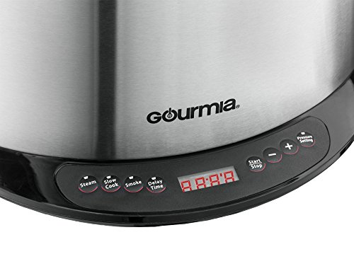 Gourmia-Multifunction-Electric-1-Hour-Hot-Cold-Smoker-Pressure-Cooker-Slow-Cooker-and-Steamer-65-Qt-With-Delay-Timer-Removable-Racks-1300W-GPS650-0-1