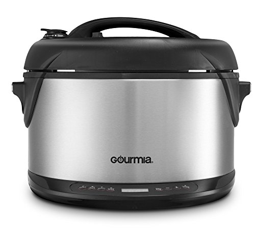 Gourmia-Multifunction-Electric-1-Hour-Hot-Cold-Smoker-Pressure-Cooker-Slow-Cooker-and-Steamer-65-Qt-With-Delay-Timer-Removable-Racks-1300W-GPS650-0