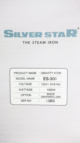 Gravity-Feed-Steam-Iron-Silver-star-ES-300-0-0