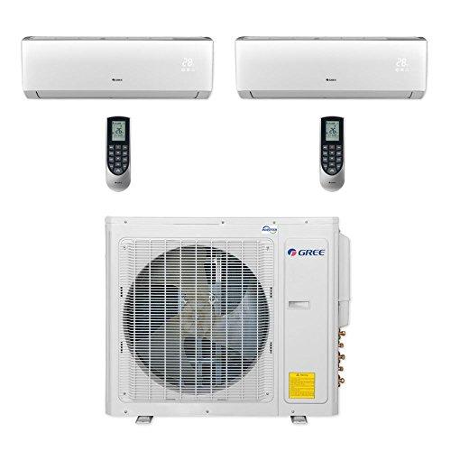 Gree-MULTI30CVIR201-30000-BTU-Multi21-Dual-Zone-Wall-Mount-Mini-Split-Air-Conditioner-Heat-Pump-208-230V-9-12-0