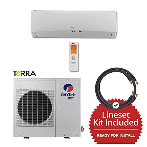 Gree-TERRA09230-141215-9000-BTU-27-SEER-Wall-Mount-Mini-Split-Air-Conditioner-Heat-Pump-208-230V-15-Line-Set-0