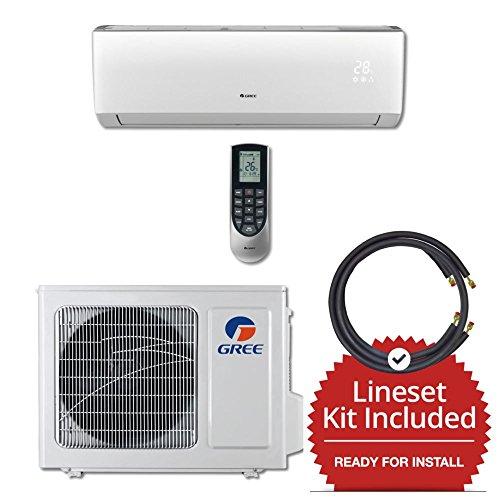 Gree-VIR09230-143815-9000-BTU-23-SEER-Wall-Mount-Mini-Split-Air-Conditioner-Heat-Pump-208-230V-15-Line-Set-0