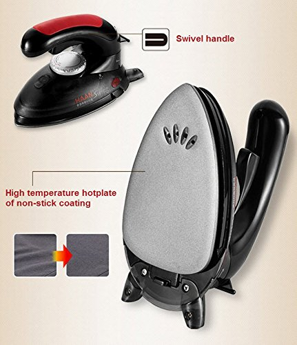HAAN-HI-600-Electric-Steam-Handy-Iron-Swivel-Handle-with-Brush-0-1