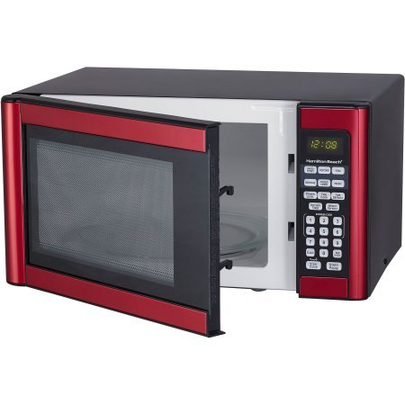 Hamilton-Beach-11-cu-ft-Microwave-Features-10-power-levels-and-several-one-touch-cooking-Red-0-1