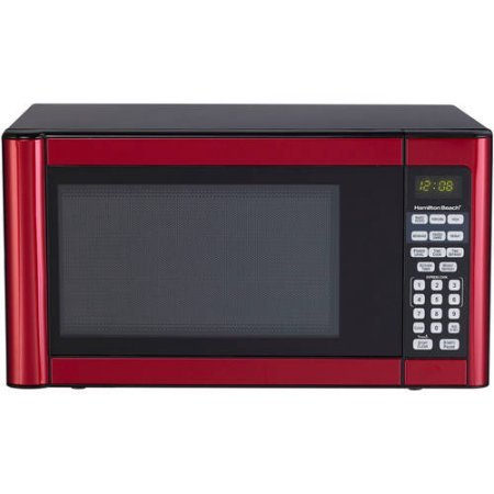 Hamilton-Beach-11-cu-ft-Microwave-Features-10-power-levels-and-several-one-touch-cooking-Red-0