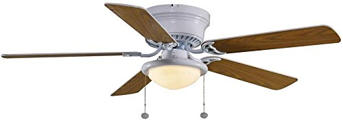 Hampton-Bay-Hugger-52-in-White-Ceiling-Fan-With-Light-0-0