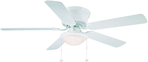 Hampton-Bay-Hugger-52-in-White-Ceiling-Fan-With-Light-0