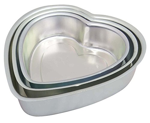 Heart-Shape-Cake-Pudding-Baking-Mold-Aluminum-Tin-Pan-Bakeware-Kitchen-Set-Of-3-Pieces-0-0