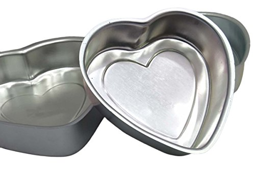 Heart-Shape-Cake-Pudding-Baking-Mold-Aluminum-Tin-Pan-Bakeware-Kitchen-Set-Of-3-Pieces-0-1