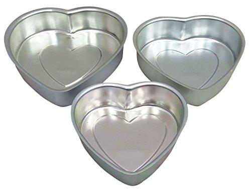 Heart-Shape-Cake-Pudding-Baking-Mold-Aluminum-Tin-Pan-Bakeware-Kitchen-Set-Of-3-Pieces-0