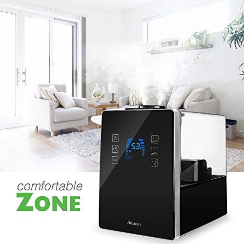 Homdox-Ultrasonic-Humidifier6L16-Gallon-CapacityWarmCool-MistRemote-Control-with-Automatic-Shut-Off-Timer-Air-Vaporizer-0-1