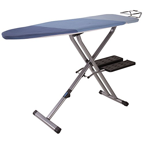 Household-Essentials-975418-1-Fold-Away-Space-Saver-Wide-Top-Ironing-Board-with-Iron-Holder-Blue-0