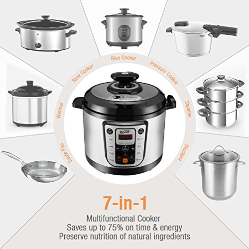 Housmile-7-in-1-Multi-Use-Programmable-Pressure-Cooker-6-Quart-1000W-0-1