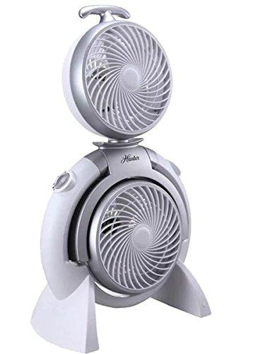 Hunter 3 Speed Adjustable Dual Portable Fan White