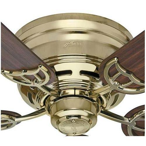 Hunter-53069-Low-Profile-III-White-Flush-Mount-52-Ceiling-Fan-0-0