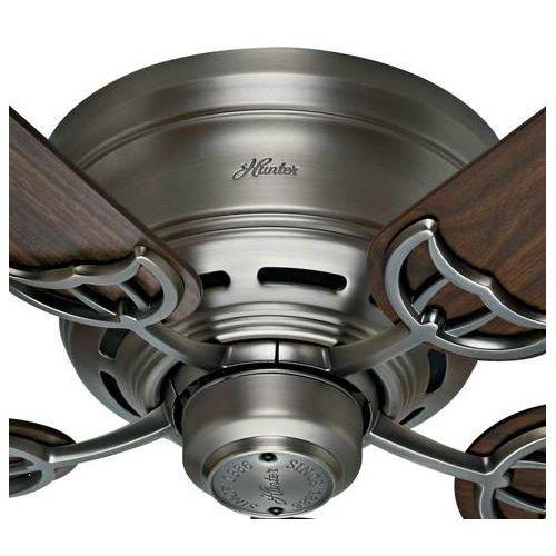 Hunter-53069-Low-Profile-III-White-Flush-Mount-52-Ceiling-Fan-0-1